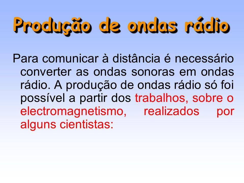 Produção de ondas rádio