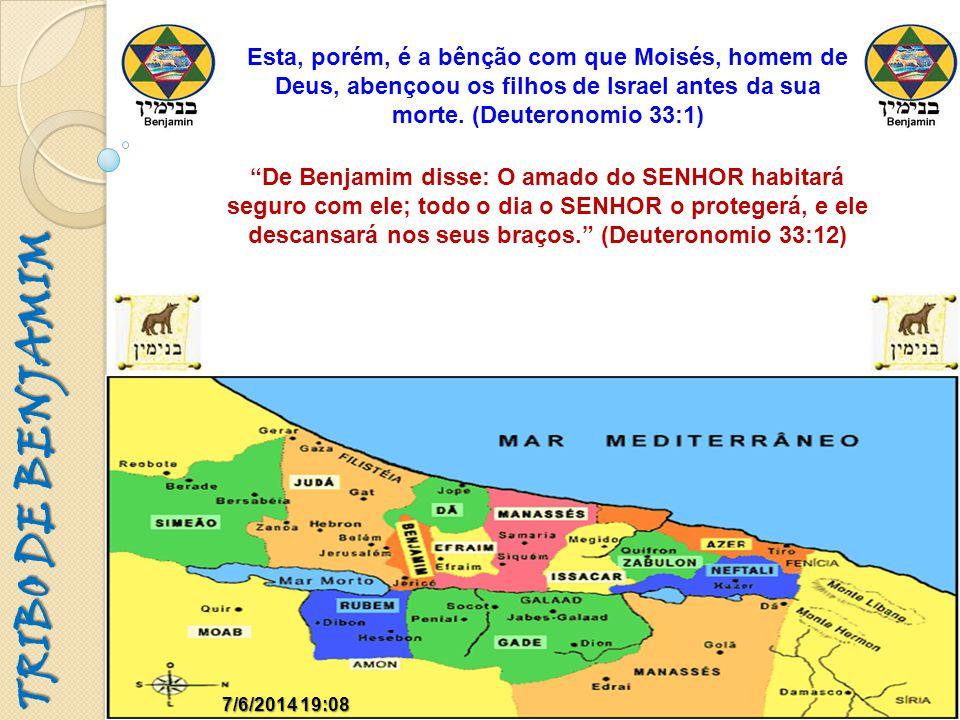 16:45:30 Esta, porém, é a bênção com que Moisés, homem de Deus, abençoou os filhos de Israel antes da sua morte. (Deuteronomio 33:1)