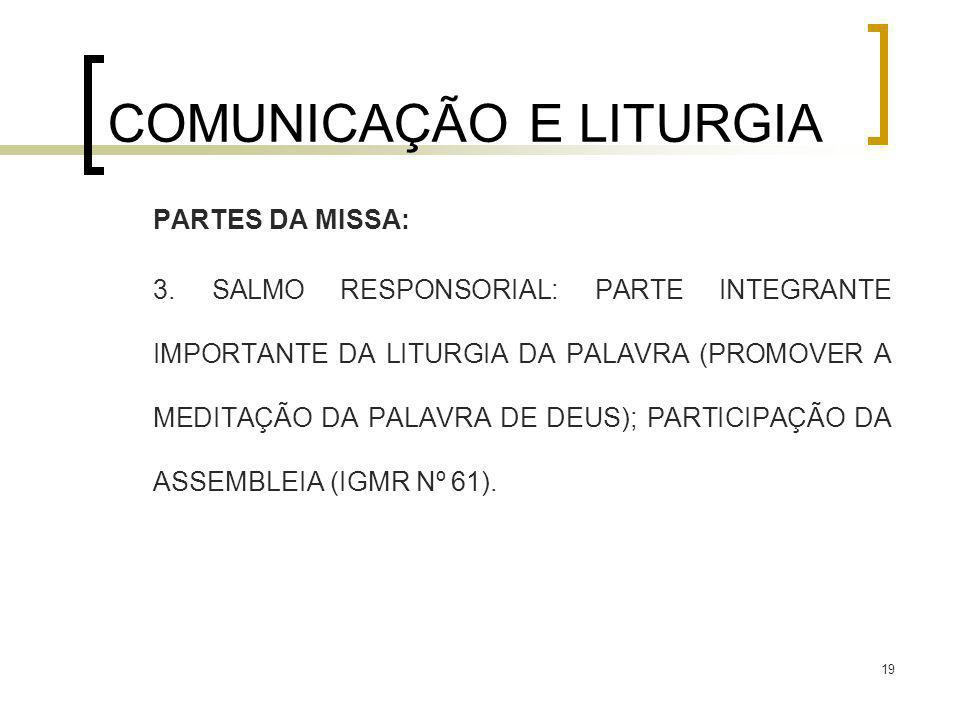 COMUNICAÇÃO E LITURGIA