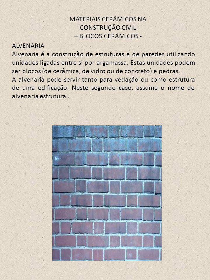 MATERIAIS CERÂMICOS NA CONSTRUÇÃO CIVIL