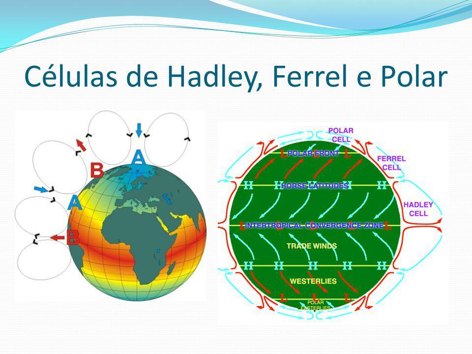 Células de Hadley, Ferrel e Polar