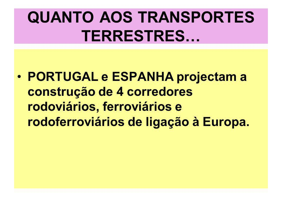 QUANTO AOS TRANSPORTES TERRESTRES…