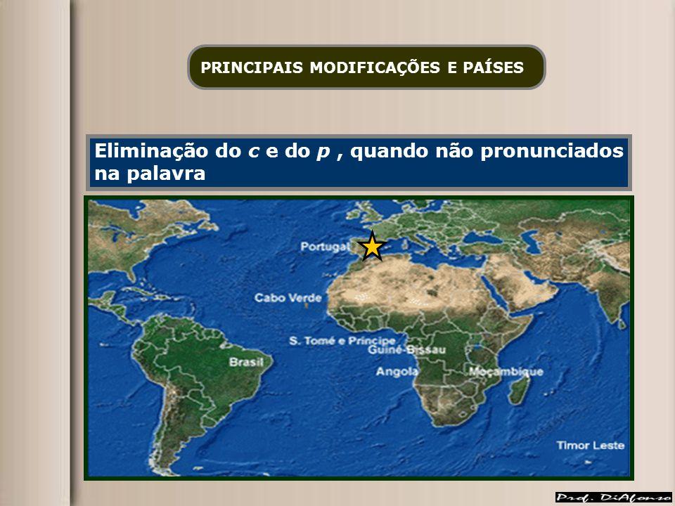 PRINCIPAIS MODIFICAÇÕES E PAÍSES