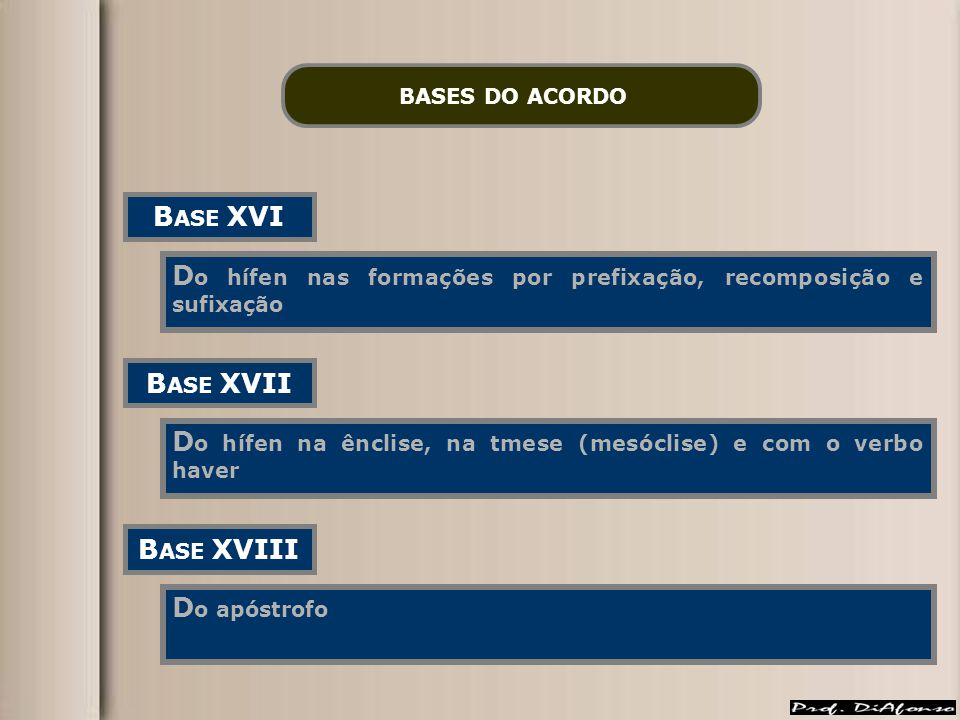 BASE XVI BASE XVII BASE XVIII