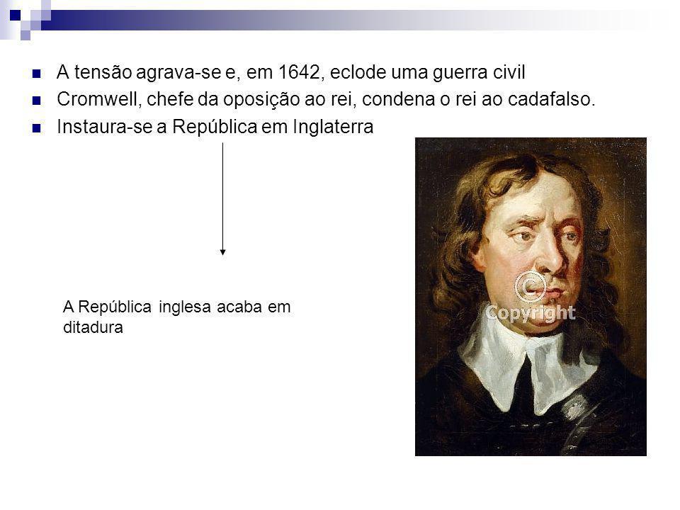 A tensão agrava-se e, em 1642, eclode uma guerra civil
