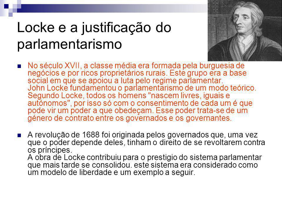 Locke e a justificação do parlamentarismo