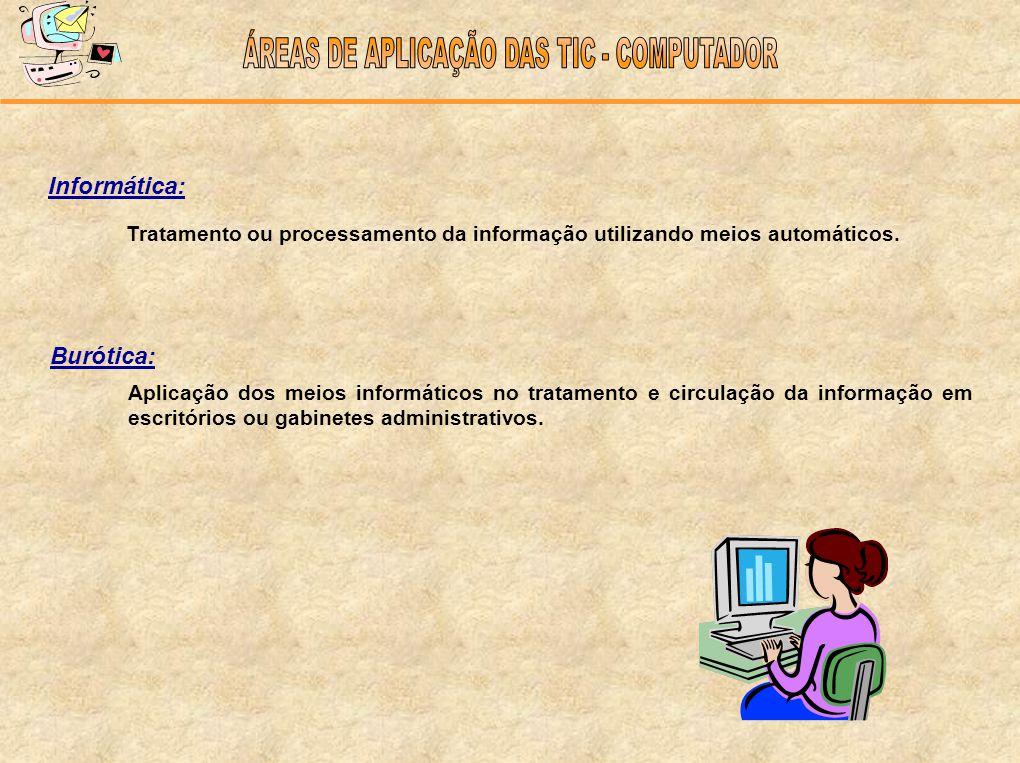 ÁREAS DE APLICAÇÃO DAS TIC - COMPUTADOR