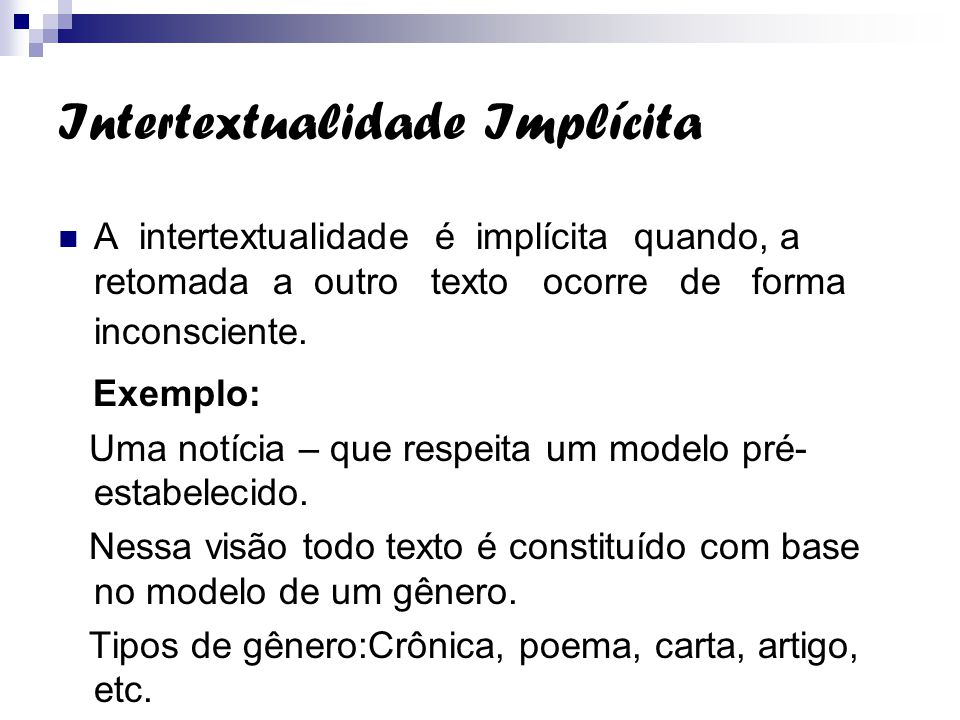 Intertextualidade Implícita
