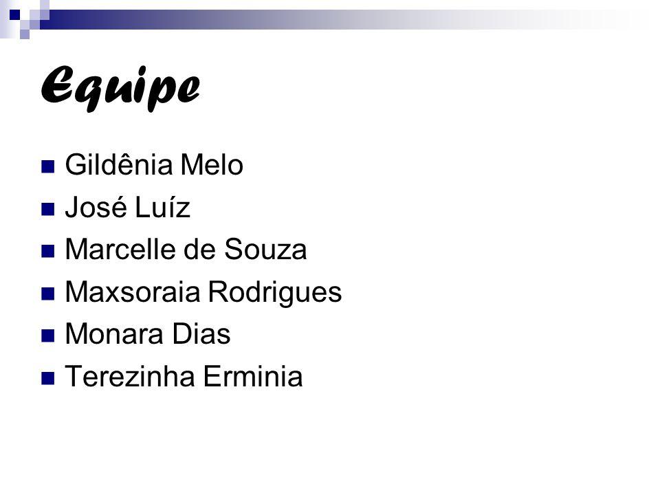 Equipe Gildênia Melo José Luíz Marcelle de Souza Maxsoraia Rodrigues