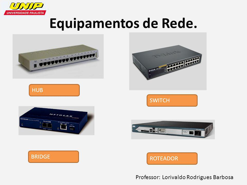 Equipamentos de Rede. HUB SWITCH BRIDGE ROTEADOR