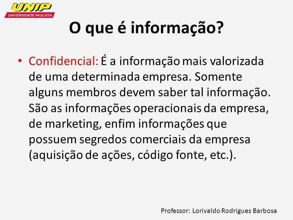 O que é informação