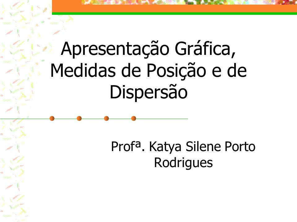 Apresentação Gráfica, Medidas de Posição e de Dispersão