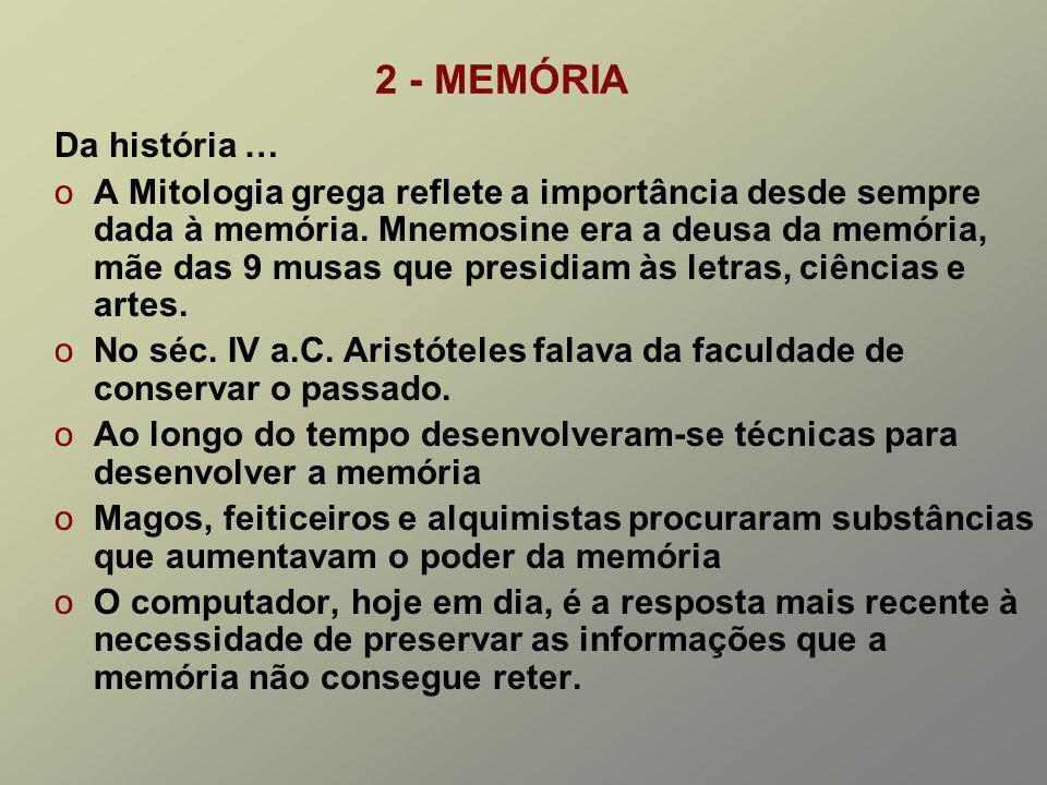 2 - MEMÓRIA Da história …