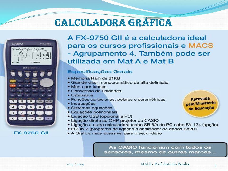 Calculadora gráfica 2013 / 2014 MACS - Prof.