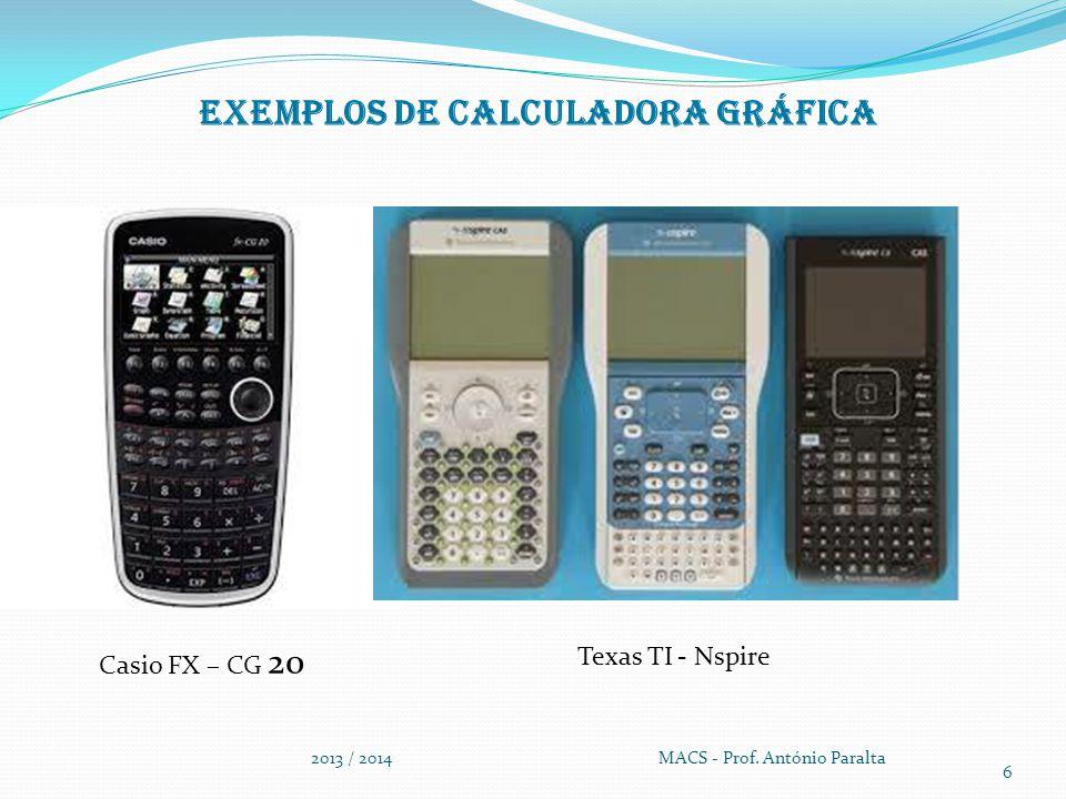 Exemplos de Calculadora gráfica