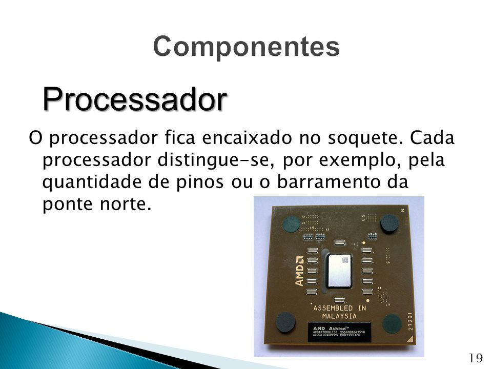 Processador Componentes