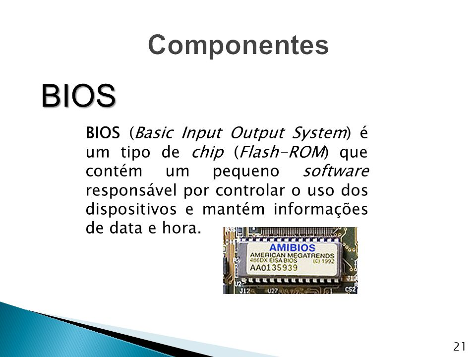 Componentes BIOS.