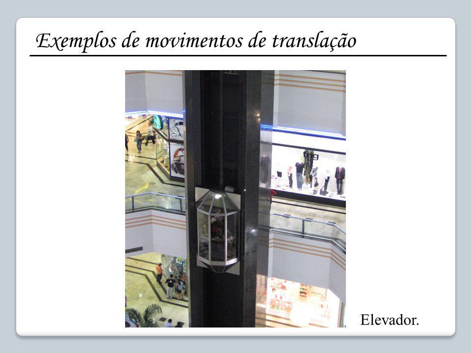 Exemplos de movimentos de translação