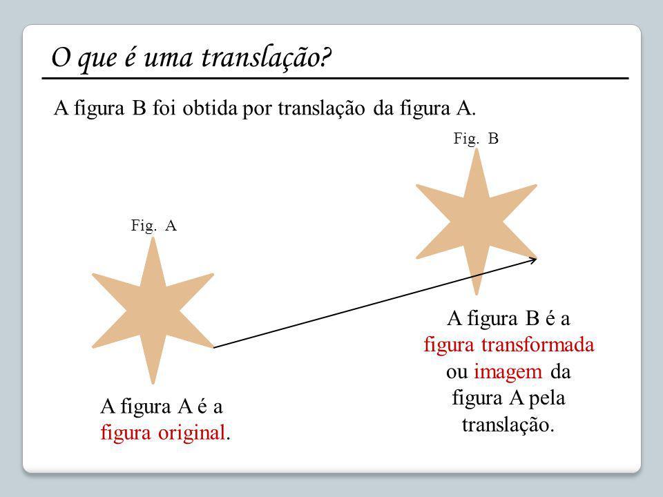 O que é uma translação A figura B foi obtida por translação da figura A. Fig. B. Fig. A.