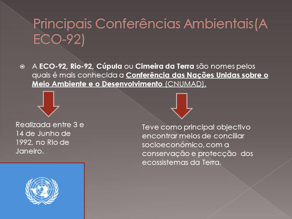 Principais Conferências Ambientais(A ECO-92)