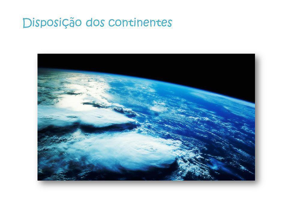 Disposição dos continentes