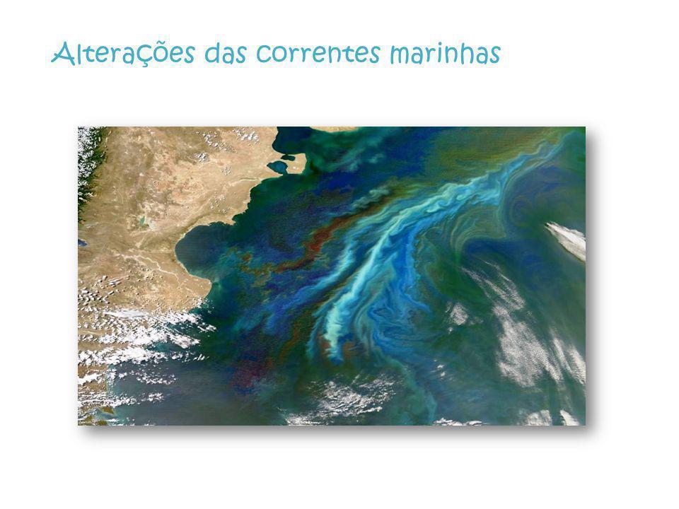 Alterações das correntes marinhas
