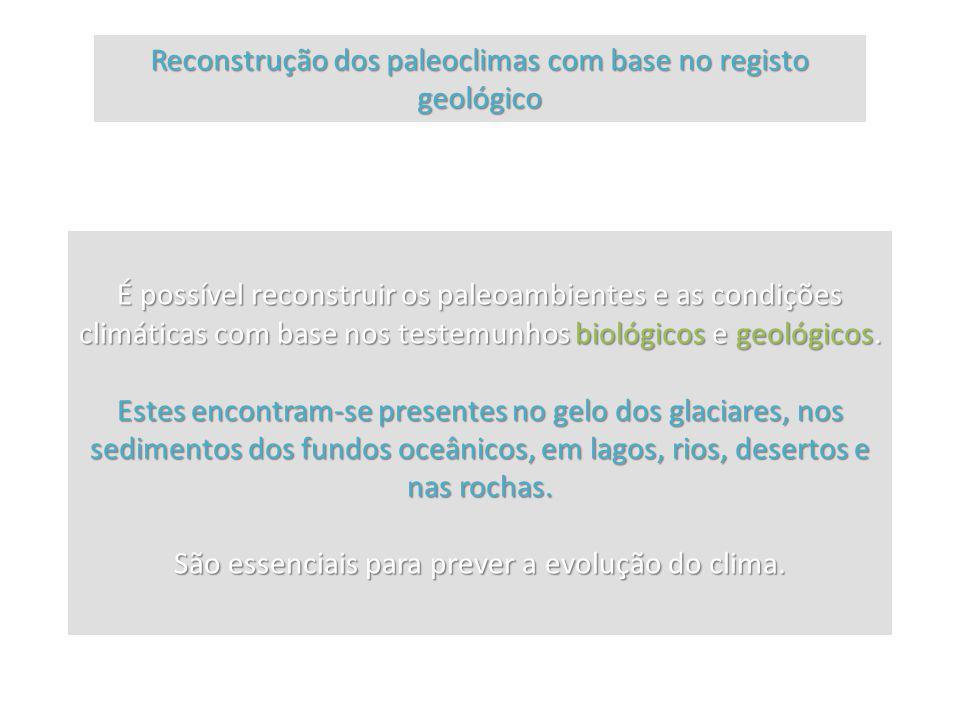 Reconstrução dos paleoclimas com base no registo geológico