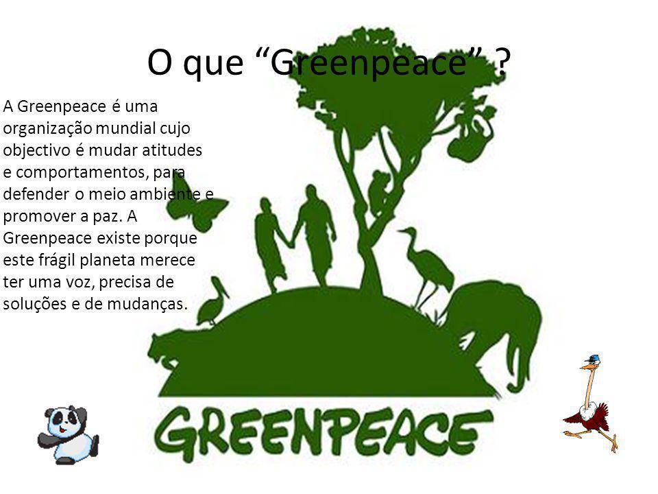 O que Greenpeace