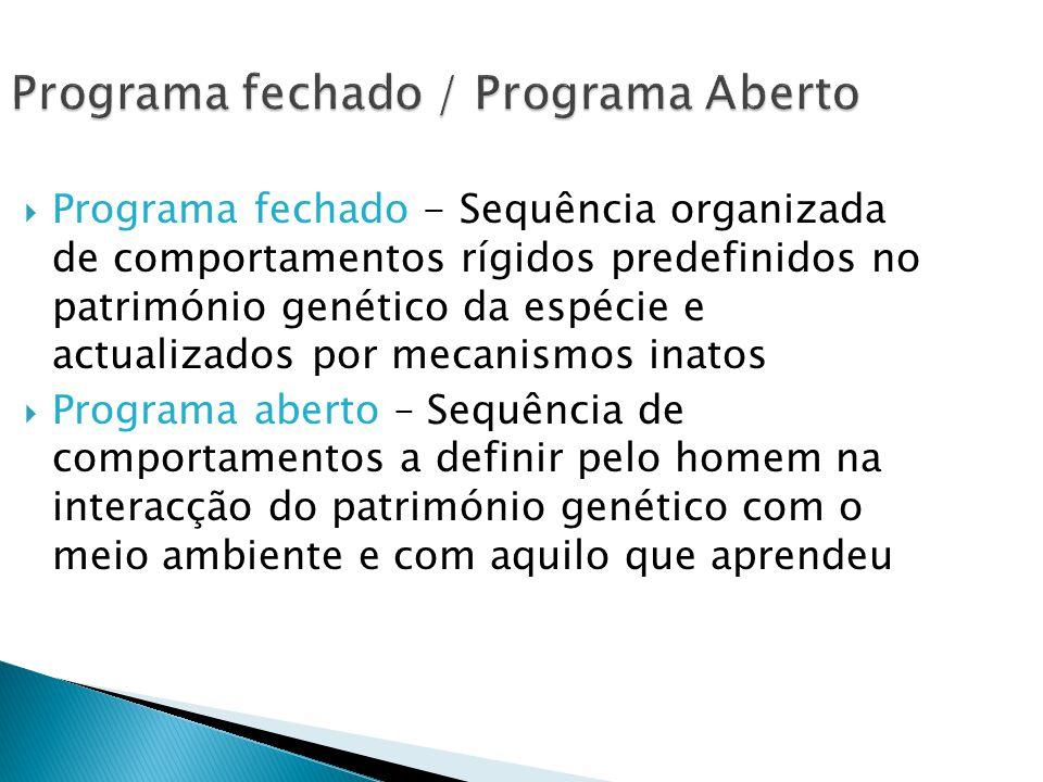 Programa fechado / Programa Aberto