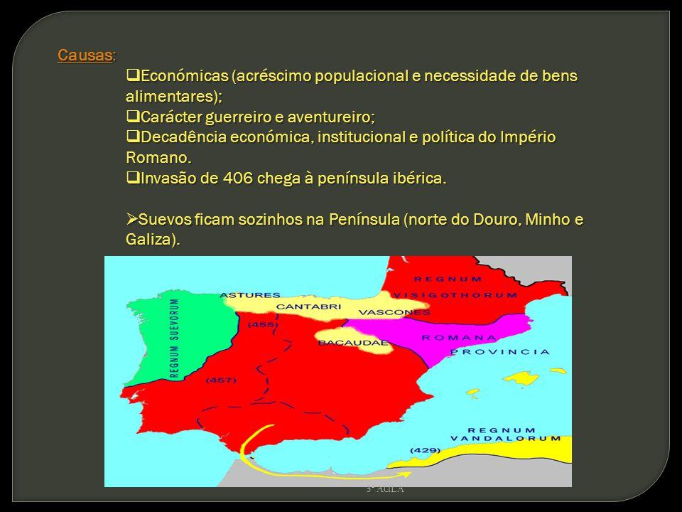 Económicas (acréscimo populacional e necessidade de bens alimentares);