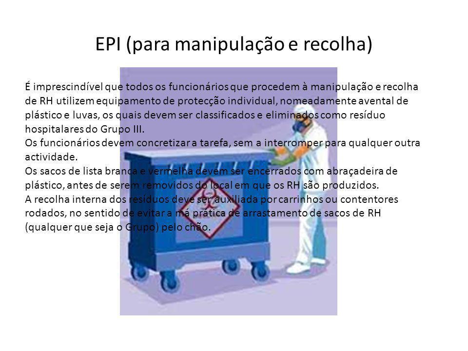 EPI (para manipulação e recolha)