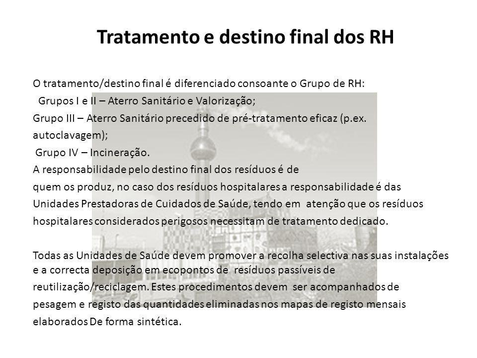 Tratamento e destino final dos RH