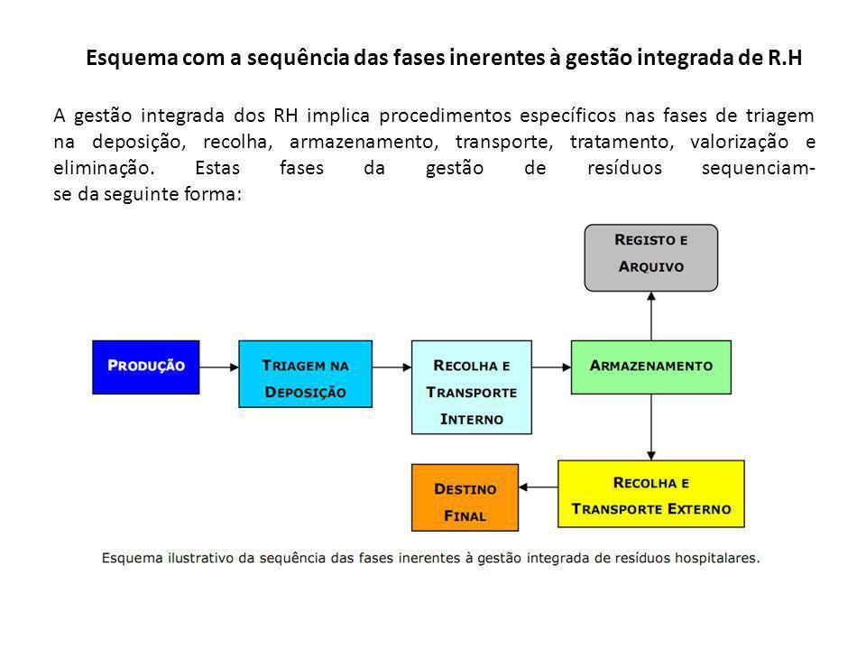 Esquema com a sequência das fases inerentes à gestão integrada de R.H