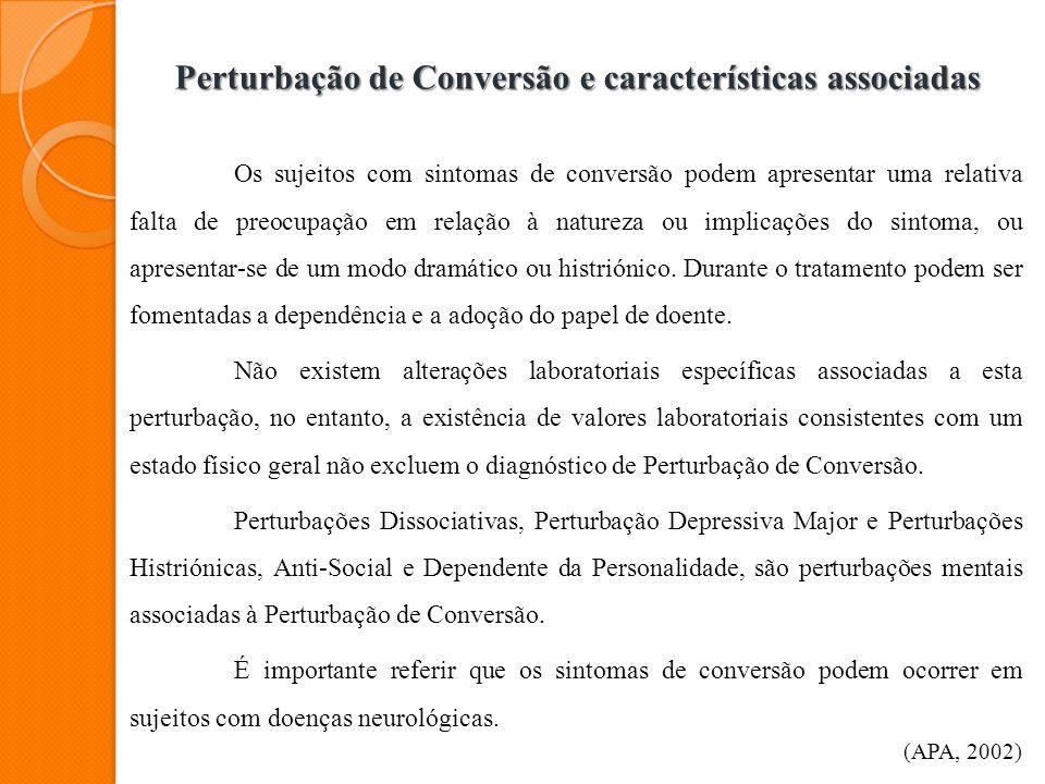 Perturbação de Conversão e características associadas