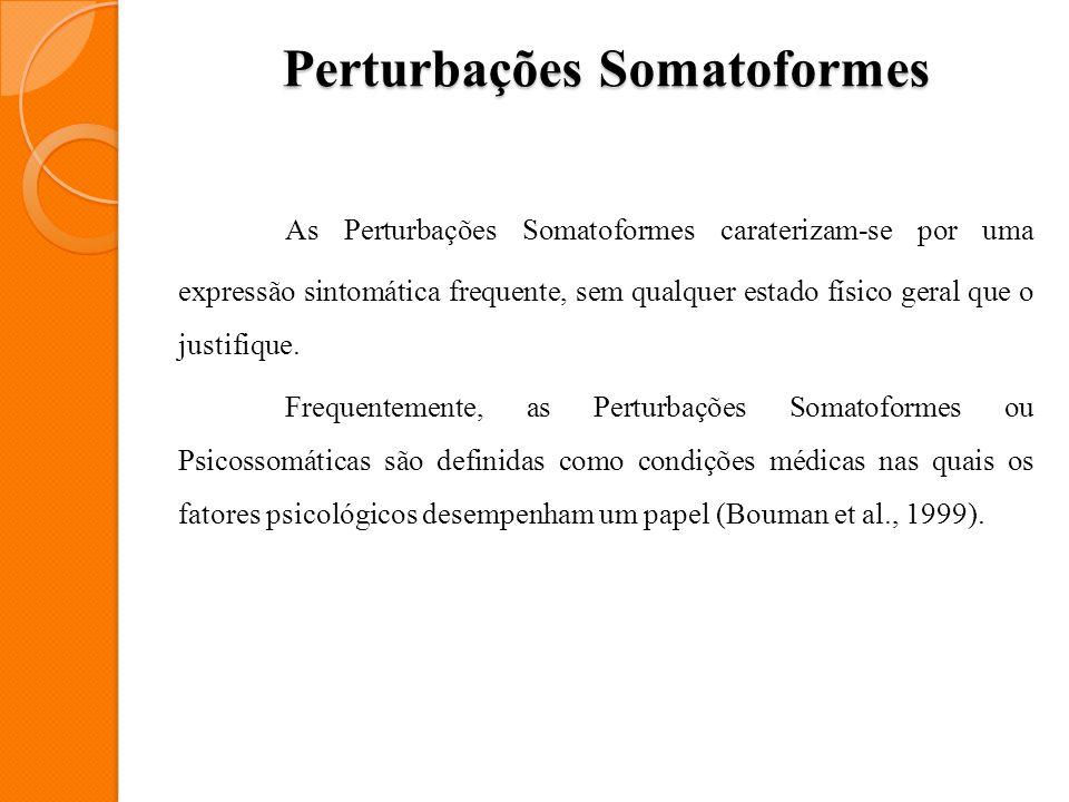 Perturbações Somatoformes