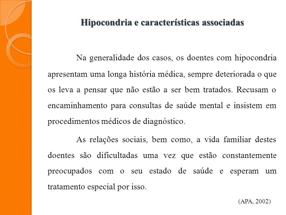 Hipocondria e características associadas