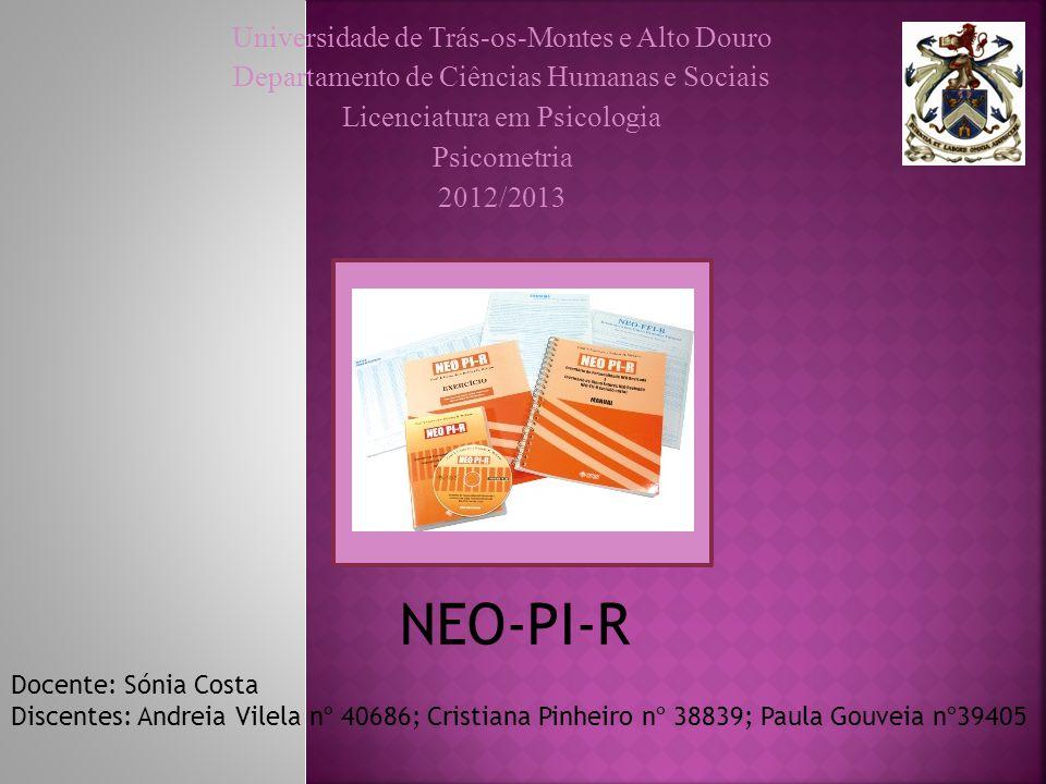NEO-PI-R Universidade de Trás-os-Montes e Alto Douro