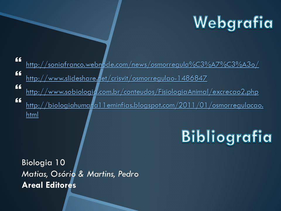Webgrafia Bibliografia Biologia 10 Matias, Osório & Martins, Pedro