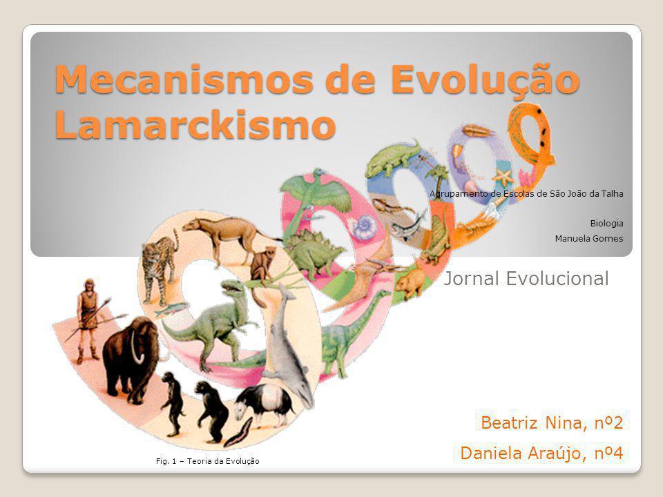 Mecanismos de Evolução Lamarckismo
