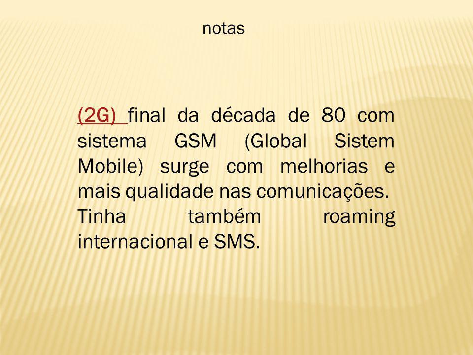 Tinha também roaming internacional e SMS.