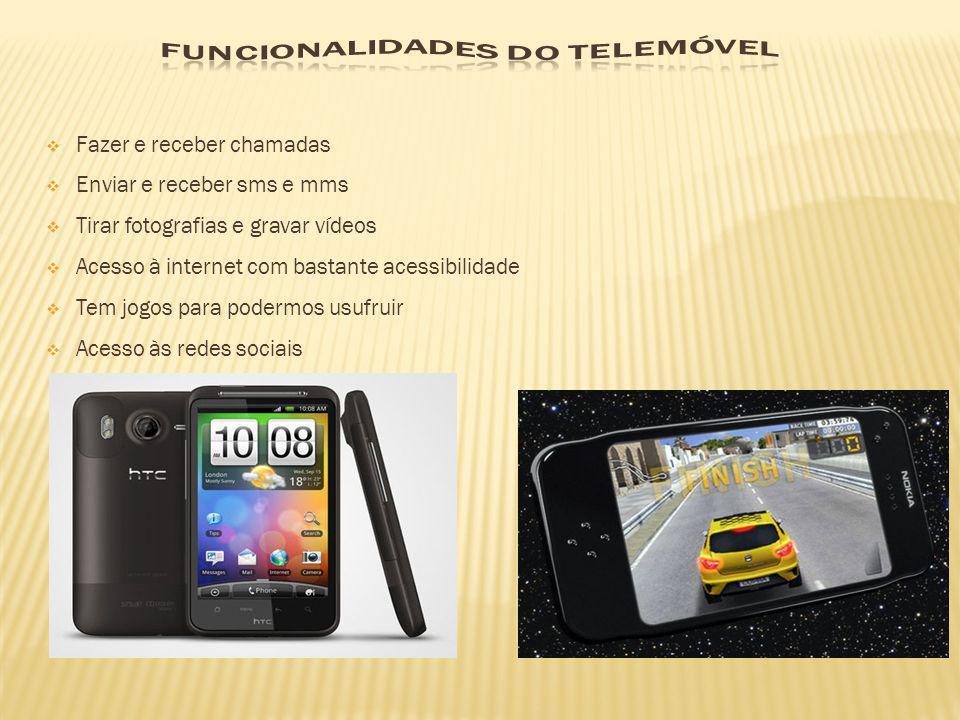 Funcionalidades do telemóvel