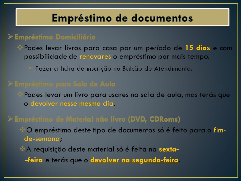 Empréstimo de documentos