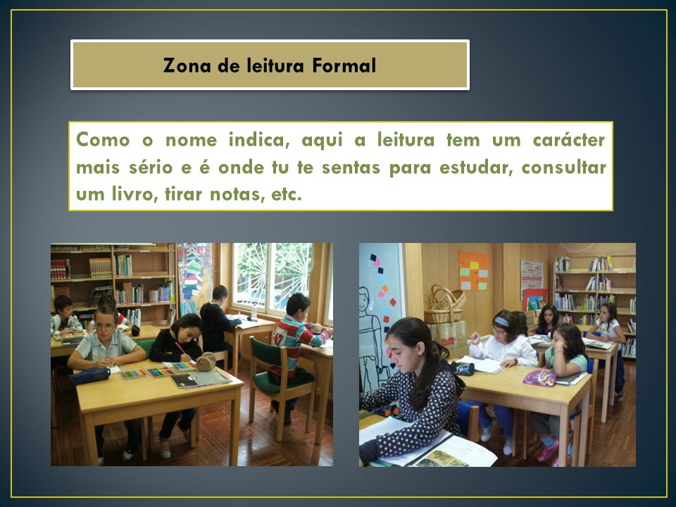 Zona de leitura Formal