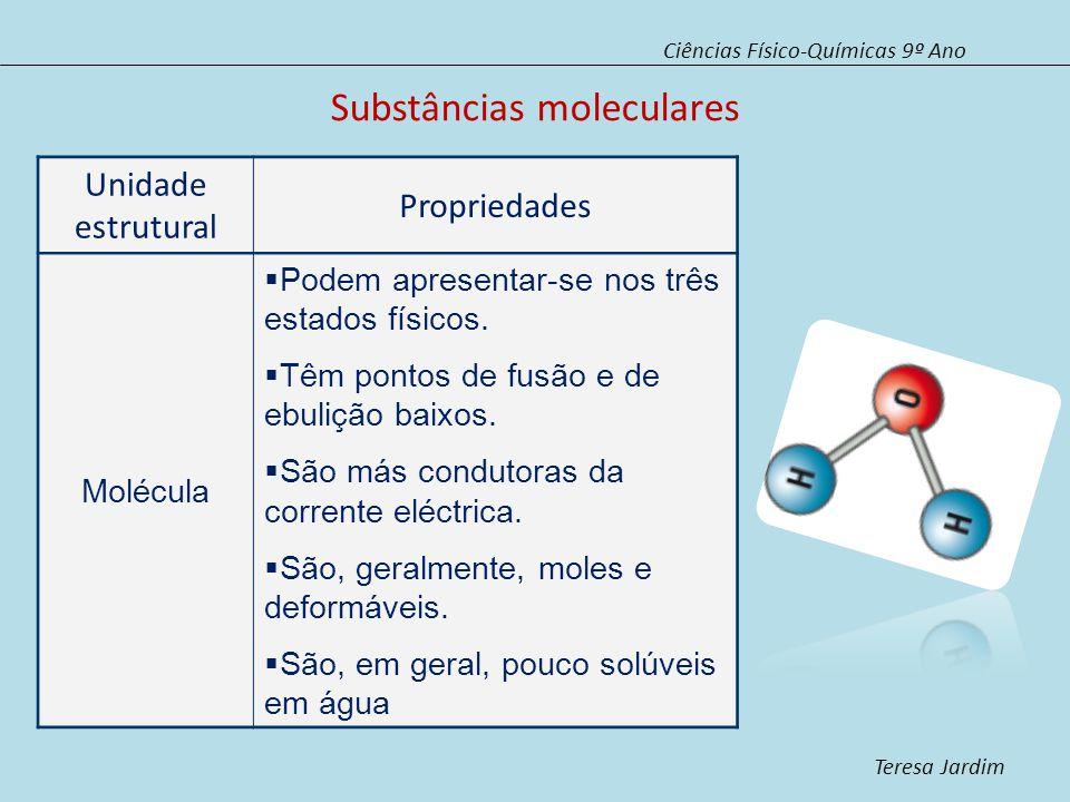Substâncias moleculares
