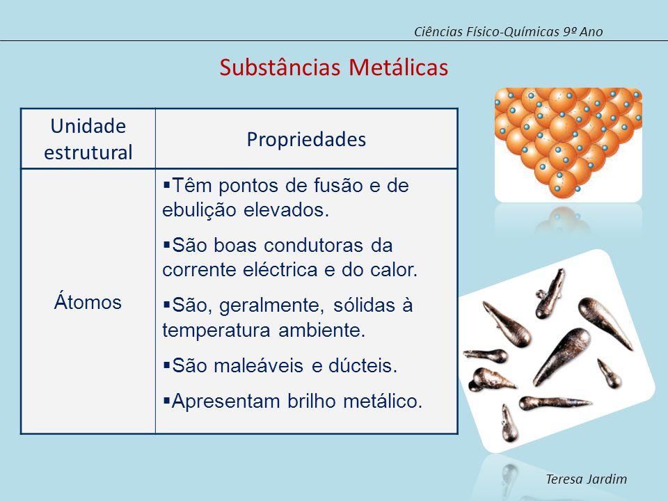 Substâncias Metálicas