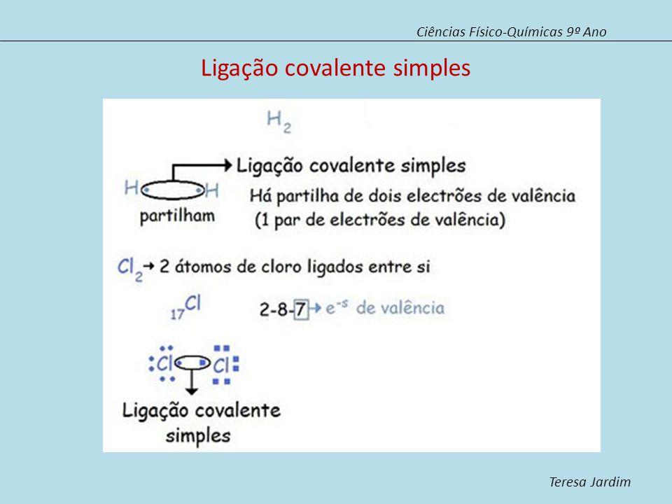 Ligação covalente simples