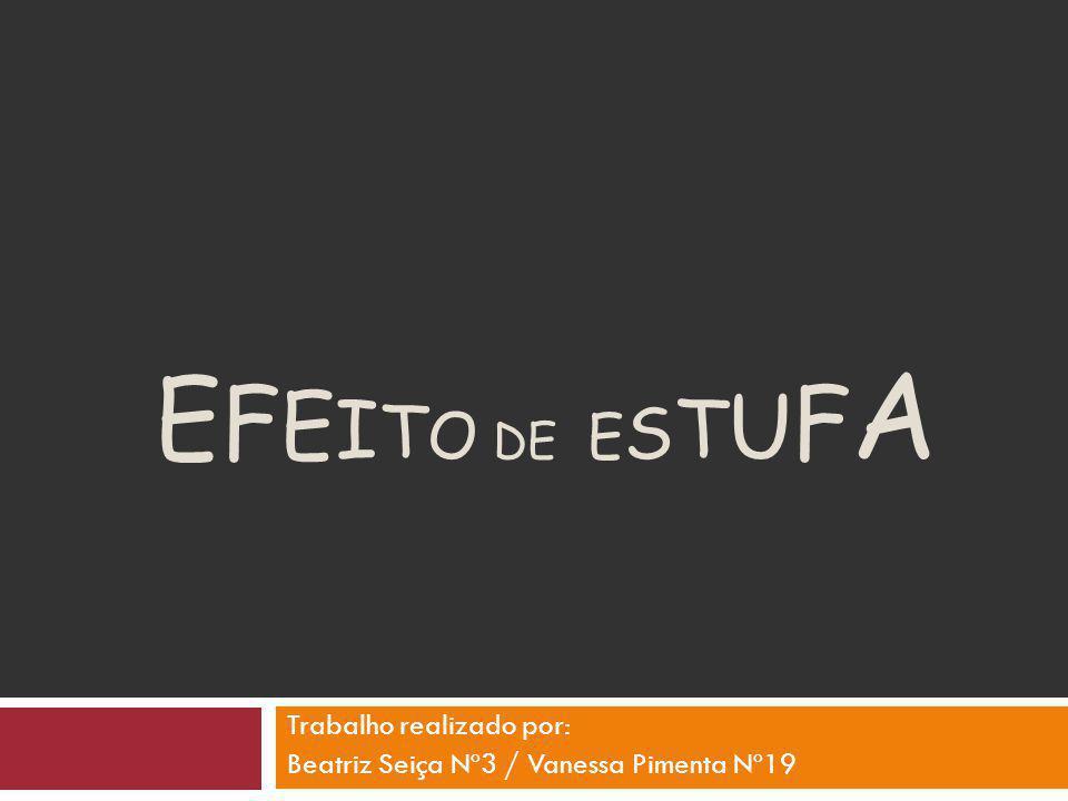 Trabalho realizado por: Beatriz Seiça Nº3 / Vanessa Pimenta Nº19