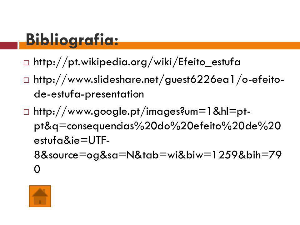 Bibliografia: http://pt.wikipedia.org/wiki/Efeito_estufa