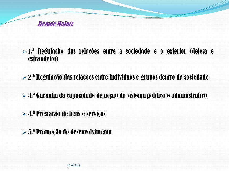 4.ª Prestação de bens e serviços 5.ª Promoção do desenvolvimento