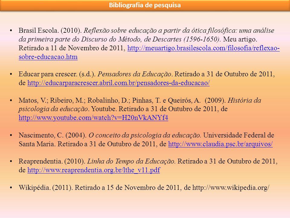 Bibliografia de pesquisa
